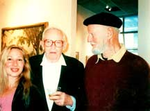 Nancy Calef, Jack Levine, Lawrence Ferlinghetti